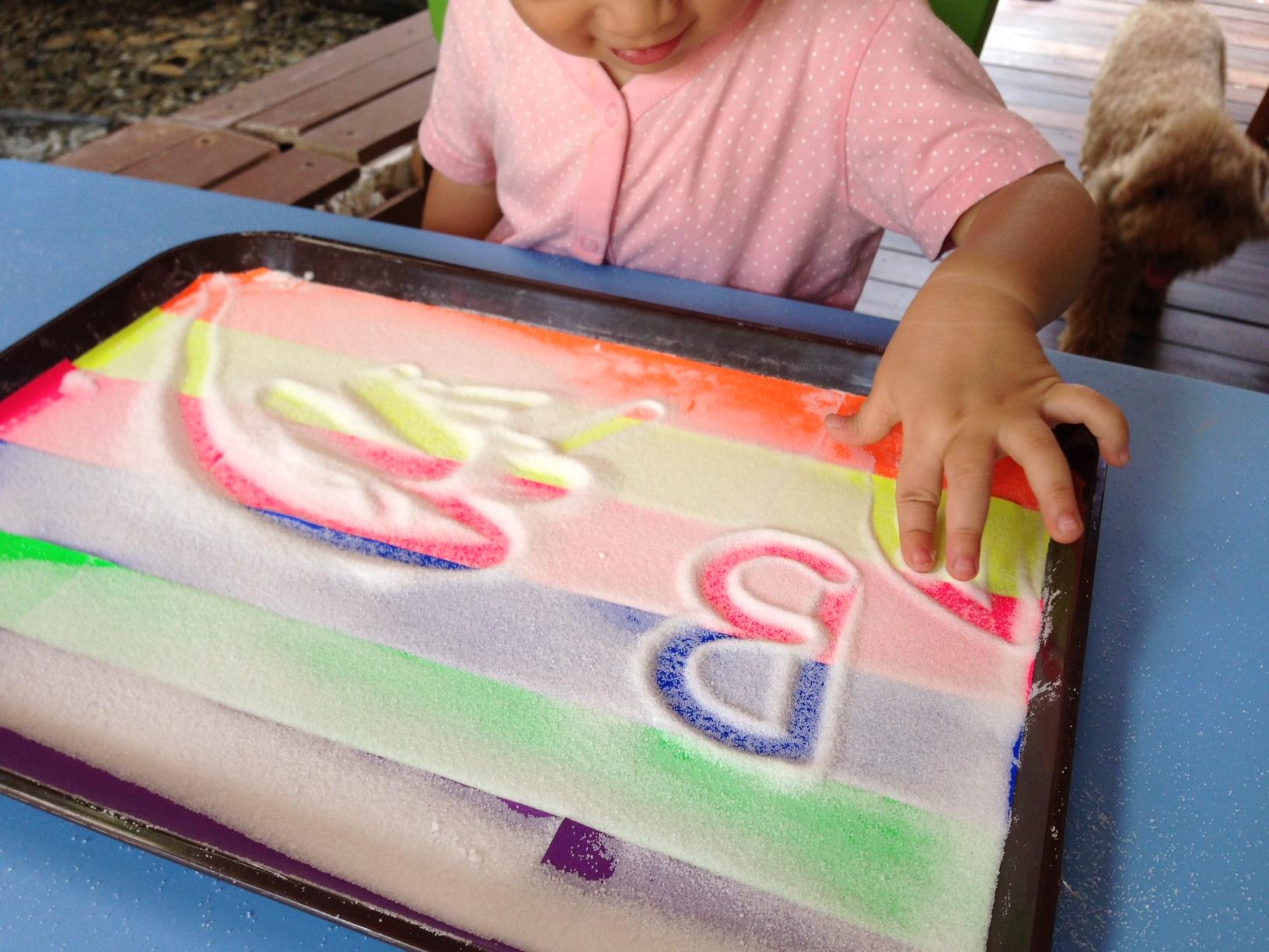 Tray Rainbow Rainbow Salt Tray Writing